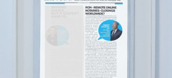 RON – Remote Online Notaries-Closings Worldwide?